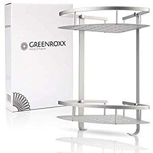 Greenroxx Duschregal Aus Stabilem Aluminium Eckregal Ohne Bohren