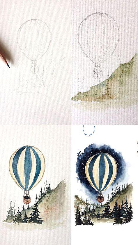 (Rosie Shriver.sketchbook) Watercolor painting process photos.  #watercolor #wat…