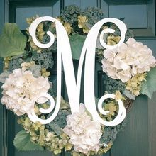 Personalize your doors and walls with our Small Wooden Monogram Door Decoration in Single Initial Script with acrylic color.