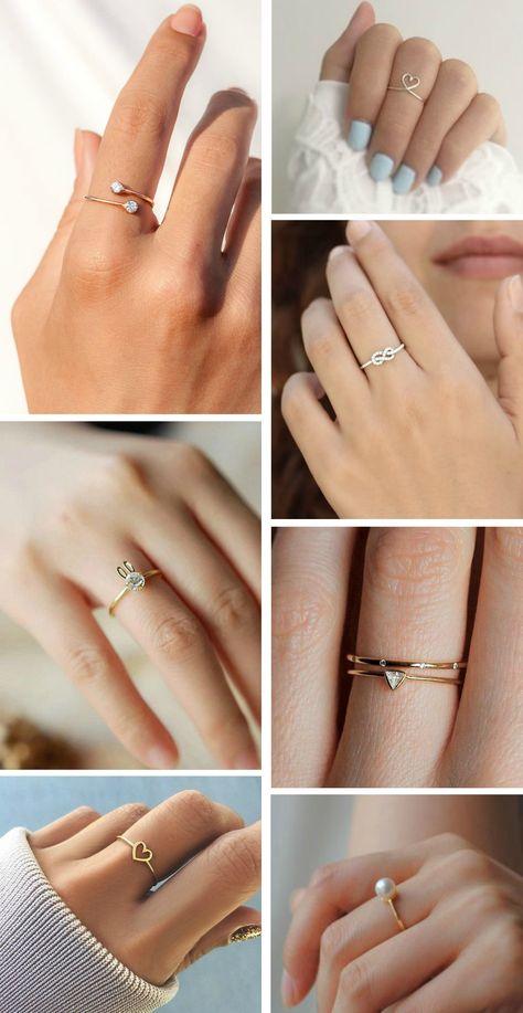 acessórios delicados #rings #minimalist