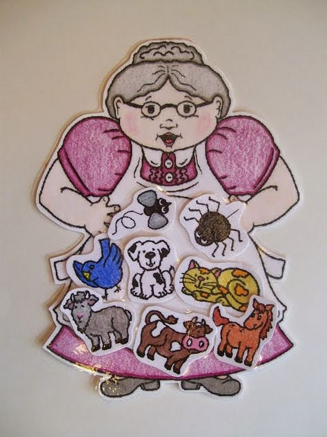 Old lady who swallowed a fly Serving Pink Lemonade: Magnet Board Stories/Songs/Activites . Preschool Literacy, Literacy Activities, Preschool Activities, Preschool Books, Flannel Board Stories, Flannel Boards, Felt Stories, Stories For Kids, Felt Board Stories