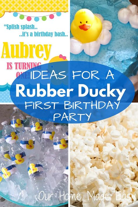 Lots Of Ideas To Plan An Adorable Rubber Duck Theme First Birthday Party Click See Them