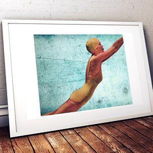 Swimming Beauty Wall Art Beach Wall Art Vintage Style Wall Art Etsy Retro Wall Art Etsy Wall Art Beach Wall Art