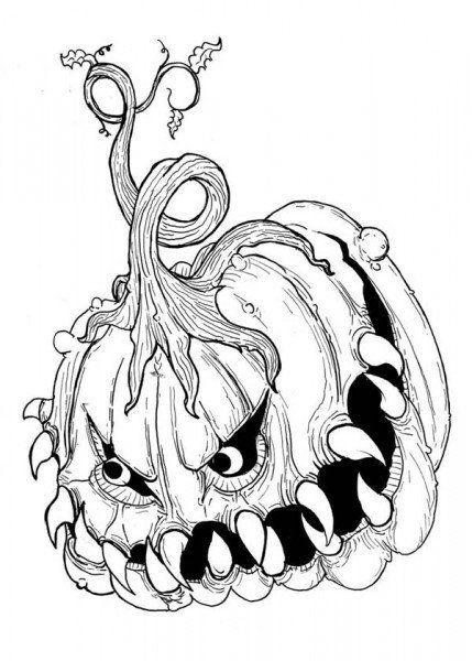 Dibujos De Halloween De Miedo Dibujos De Halloween Dibujos Halloween Para Colorear