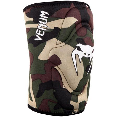 Black Venum Kontact MMA BJJ Slip On Knee Pads