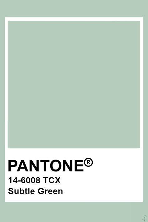 Pantone Subtle Green