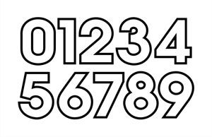 Black And White Number Outline Printable Numbers Number Fonts Printables
