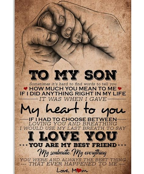 TO MY SON Vertical Poster - Forever Love Gifts