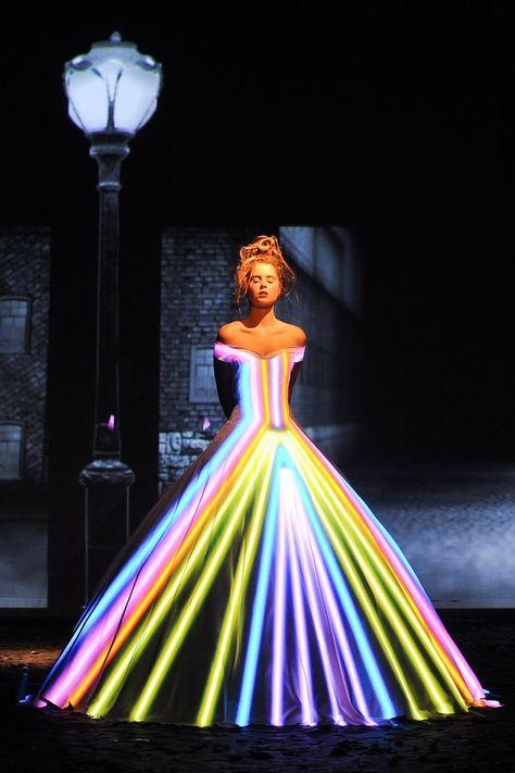 Fashion Show Fairytale Light Projection - Franck Sorbier Haute Couture AW 2012