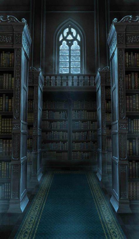 Wattpad Background, Fantasy Background, Castle Background, Episode Backgrounds, Slytherin Aesthetic, Hogwarts Houses, Hogwarts Library, Fantasy Places, Anime Scenery