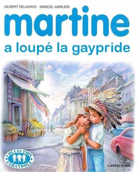 Martine is just too late for the gay pride march