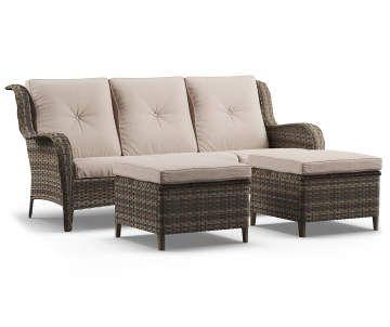 sofa ottomans all weather wicker set