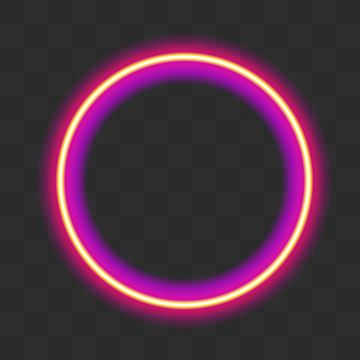 Vibrant Pink Neon Glowing Circle Colorful Round Frame Abstract Bright Ring Shine Vector Stroke Illustration For Your Design Ad Promotion Rose Illustration P Framed Abstract Neon Cute Blue Wallpaper