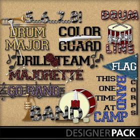 """jolees   /""""Marching Band /"""" word title Dimensional  Stickers"""