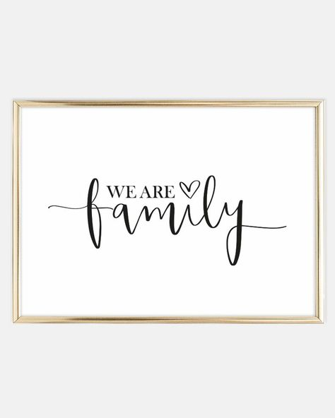 We are family, Poster