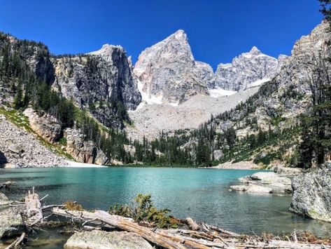 The Wyoming Hike That Leads To The Most Unforgettable Destination Delta Lake Trail Is The Best Trail In Wyoming's Grand Teton National Park Wyoming Vacation, Yellowstone Vacation, Tennessee Vacation, Wyoming Camping, Grand Teton National Park, Yellowstone National Park, National Parks, Glacier National Park Montana, West Texas