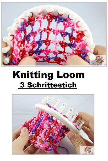 Knitting Loom Muster 3 Schrittestich Anleitung Kostenlos Video Und Bilderanleitung Knit Blankets Are One Of Ou In 2020 Loom Knitting Loom Knitting Patterns Loom