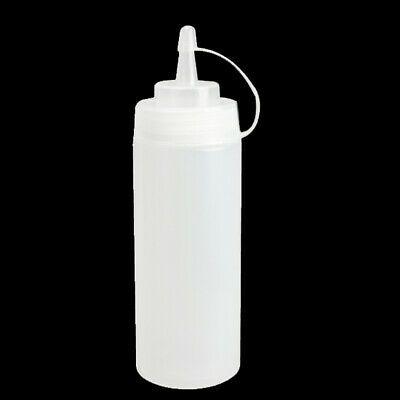 6 x Plastic Clear 8oz Squeeze Bottle Condiment Dispenser Mustard Sauce Ketchup