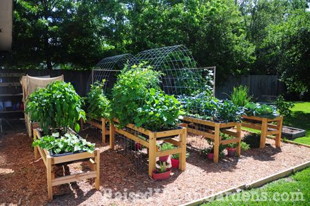 DIY garden : seriously the easiest way to garden.   No weeds or bending over...  better than traditional raised beds.. blog about gardening and how to.