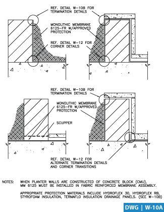 نتيجة بحث الصور عن Planter Box Detail Drawing Concrete Blocks Detailed Drawings Planter Boxes