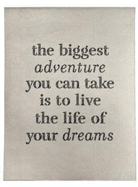 East Urban Home Handwritten The Biggest Adventure Quote Poly Chenille Rug Chenille Rug Adventure Quotes Big Adventure