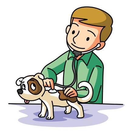 Pet Medico Veterinario Animado Veterinaria Dibujo Ninos Dibujos Animados