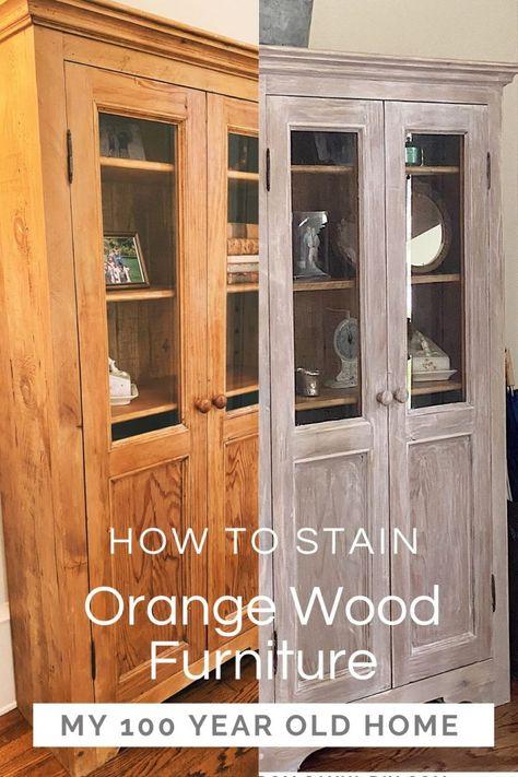 Orange Furniture, Paint Furniture, Furniture Projects, Furniture Makeover, Staining Wood Furniture, Restore Wood Furniture, Bedroom Furniture, Restoring Furniture, White Washed Furniture