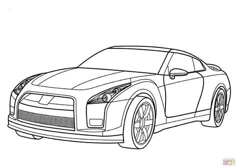 Kleurplaten Uitprinten Cars.Nissan Gtr Kleurplaat Gratis Kleurplaten Printen Cars