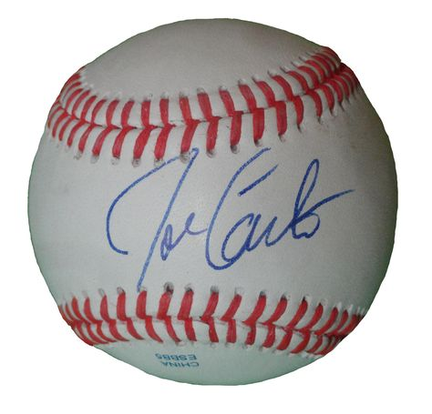 Baltimore Orioles Joe Carter signed Rawlings ROLB leather Baseball w/ proof photo.  Proof photo of Joe signing will be included with your purchase along with a COA issued from Southwestconnection-Memorabilia, guaranteeing the item to pass authentication services from PSA/DNA or JSA. Free USPS shipping. www.AutographedwithProof.com is your one stop for autographed collectibles from Baltimore sports teams. Check back with us often, as we are always obtaining new items.