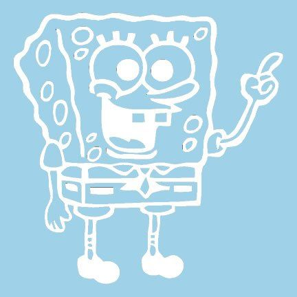 Mister Crabs Spongebob Squarepants Silhoutte Custom By VinylGrafix - Spongebob decals for cars