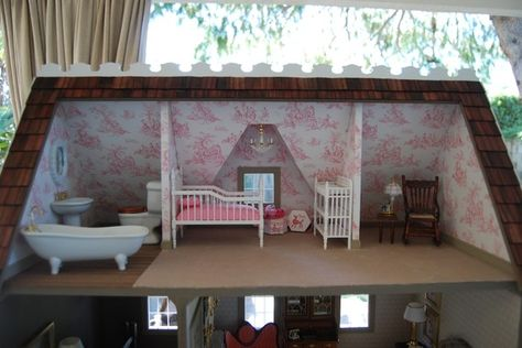 Dollhouse suite with pink toile