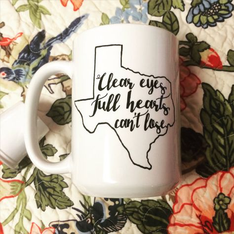 Clear eyes full hearts can't lose Coffee Mug. Friday by embeemugs