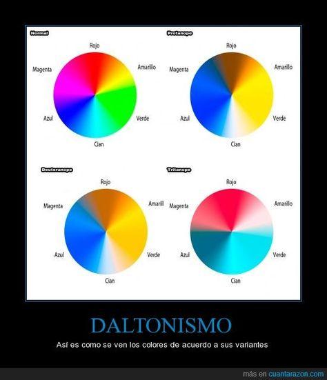 Test para diagnosticar el daltonismo (ceguera a ciertos colores ...