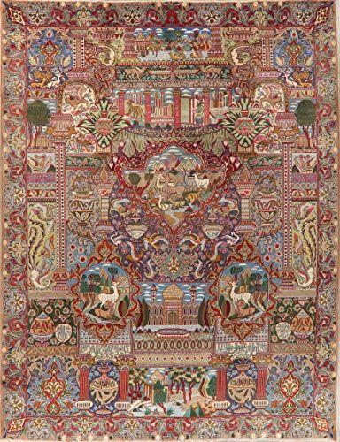 Vintage Dynasty Historical Traditional Kashmar Dinning Room Area Rug Handmade Oriental Carpet 10 X 12 9 9 X 12 In 2020 Silk Persian Rugs Area Rugs Silk Area Rugs