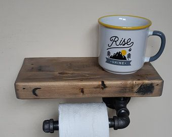 Rustic Toilet Roll Holder Toilet Paper Holder Weathered Barn Board Cabin Furnishings Cottage Accessories Bathroom Shelf Toilet Paper In 2020 Toilet Roll Holder Wood Toilet Paper Holder Rustic Toilets
