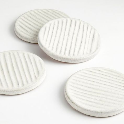 Modern Coasters, Diy Coasters, Ceramic Coasters, Diy Clay, Clay Crafts, Clay Projects, Cute Clay, Glazes For Pottery, Glazed Pottery