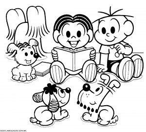 Desenhos Para Colorir Turma Da Monica Dia Do Livro Monica Para