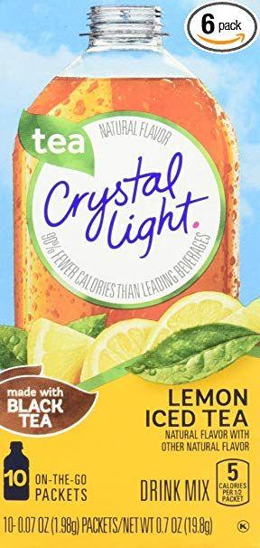 Crystal Light Drink Mix Lemon Iced Tea 6 Count 4 2 Ounce Review Peach Ice Tea Iced Tea Drinks Crystal Light Drinks