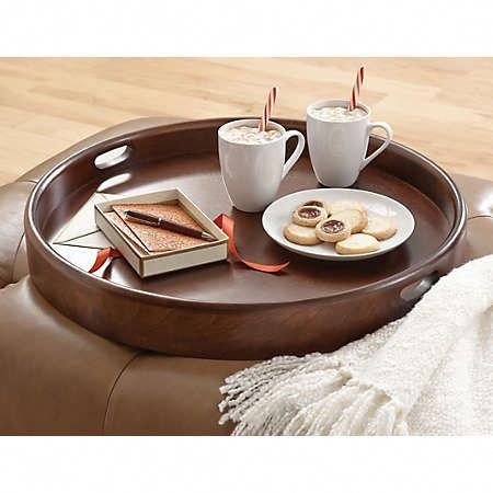 Round Ottoman Tray Collection Get Your Breakfast In Bed With These Extremely Sturdy Birch Trays Or Perhaps You Prefer To Eli Ottoman Tray Round Ottoman Tray
