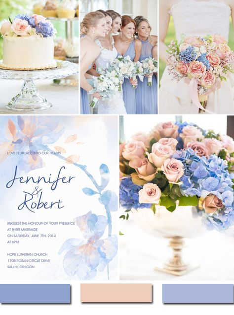 Awesome Blue Wedding Color Ideas & Wedding Invitations to Have in 2016 pastel pink and serenity blue wedding color ideas for 2016