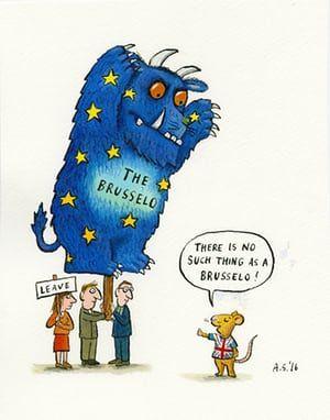 The Brusselo Brexit Remain Illustration Satire Humor