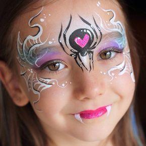 Black Widow Princess Blackwidow Facepaint Facepainting