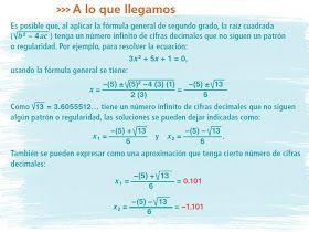 Matemátika 3ero Secundaria Ecuaciones Cuadráticas Fórmula General Ecuaciones Cuadraticas Ecuaciones Matematicas