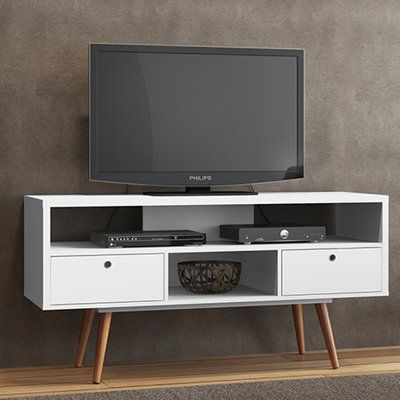 Brayden Studio Marlena Tv Stand For Tvs Up To 60 Swivel Tv Stand White Tv Stands Furniture