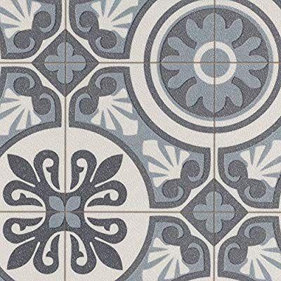 Gr/ö/ße: Muster Fliesenoptik Mosaik grau PVC Bodenbelag Steinoptik verschiedene Gr/ö/ßen 200 300 und 400 cm Breite Meterware