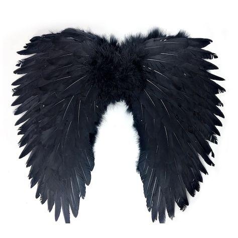 Black Wings Costume, Black Angel Costume, Angel Wings Costume, Black Swan Costume, Fallen Angel Costume Ideas, Angel Of Death Costume, Devil Costume, Dark Angel Halloween Costume, Cute Halloween Outfits