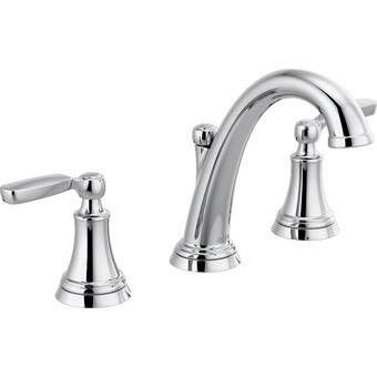 Two Handle Centerset Bathroom Faucet With Drain Assembly Bathroom Faucets Chrome Delta Faucets Sink Faucets