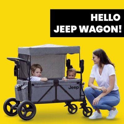 Jeep Wrangler Stroller Wagon Grey - Stroller