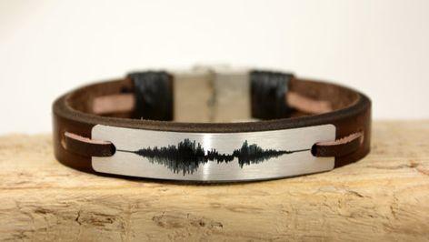 EXPRESS SHIPPING Sound Wave Bracelet Mens Bracelet by PukkaMen