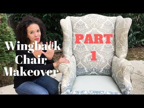 Reupholstering A Wingback Chair Is Time Consuming And Expensive But It S A Lot Of Fun Here S How Reupholster Chair Diy Wingback Chair Furniture Reupholstery